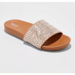 Mossimo Sandal Slide Daylan Rhinestone Embellished
